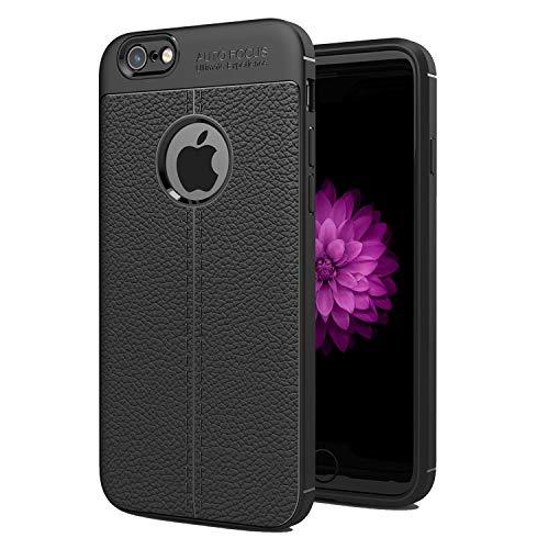 NEW C Funda iPhone 6 Plus y iPhone 6S Plus (5.5 ), Funda Protectora con absorción de Impactos y Efecto de Cuero [Gel Silicona]