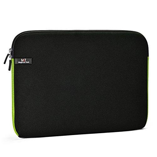 MagicLux Tech 15-15.6 Pulgadas Funda Protectora para portátiles/Funda de Neopreno/Neopreno del portátil (Verde Negro)