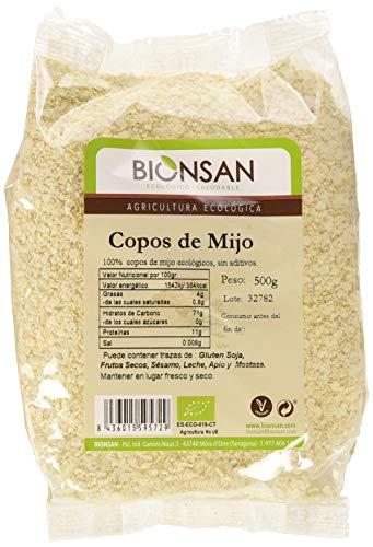 Bionsan Copos de Mijo Ecológicos - 6 Bolsas de 500 gr - Total: 3000 gr