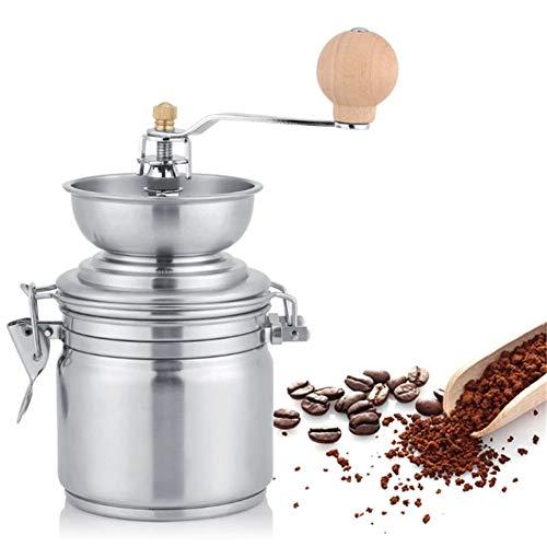 Bureau Moulin à café manuel Moulin à café manuel en acier inoxydable Moulin à café manuel Épice Moulin à broyer Outil à main Moulin à café maison Accessoires de café Graines de noix