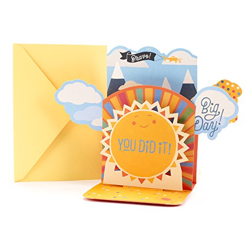 Hallmark Pop Up Graduation Card with Song (Smiling Sun, Plays Happy by Pharrell Williams )