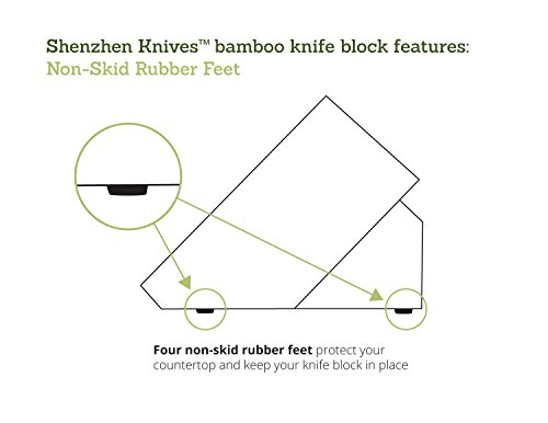 Bamboo Wood Knife Block