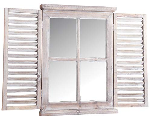 AubryGaspard - Specchio in legno tinto