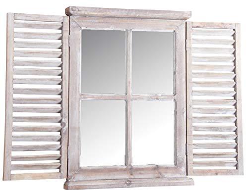 Espejo Ventana de Madera Tintada