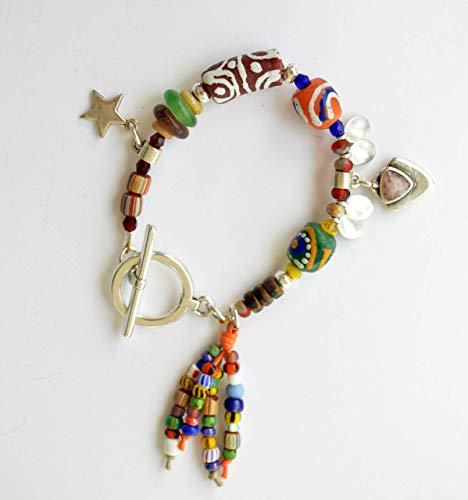 Pulsera cuentas de colores, pulsera boho handmade, regalos exclusivos y originales