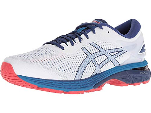 ASICS Men's Gel-Kayano 25 Running Shoes, 7M, White/Blue Print