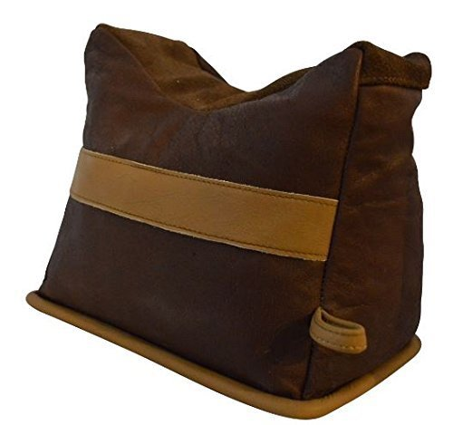 Benchmaster - All Leather Bench Bag - Leather Shooting Rest - Large - Unfilled - Benchmaster Shooting Accessories by Pro Ears