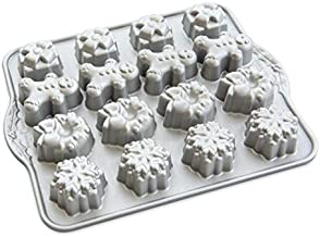Nordic Ware Holiday Teacakes Cast Cakelet Pan, 3 Cup Capacity, Silver