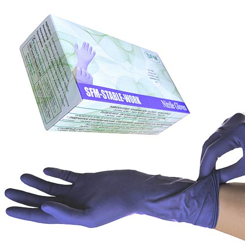 SFM ® STABLE WORK Nitril : XS, S, M, L, XL LANG&SUPERSOFT purpur blau puderfrei F-tex ACC-frei Einweghandschuhe Einmalhandschuhe Untersuchungshandschuhe Nitrilhandschuhe S (100)