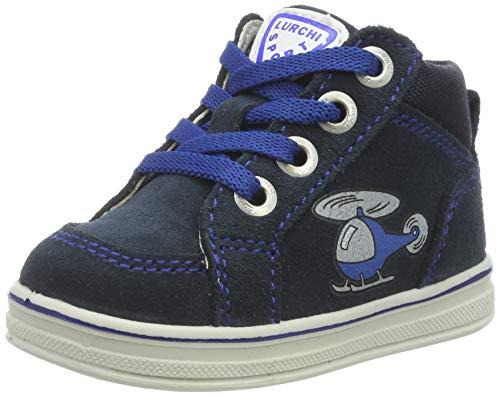 Lurchi Baby Mädchen Jessa Sneaker, Blau (Navy 22), 18 EU