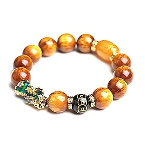 Bracelet Feng Shui Bonne Chance, sculpté à la main, étanche et décoloration, Agate PiXiu, pour Thanksgiving, fête des mères, Noël, Saint-Valentin, anniversaire.