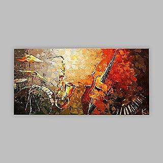 Ltq & & & Qing (NEU)-handgemalt abstrakte Horizontal Panorama, Artistic Abstrakt Cool Leinwand Öl Gemälde Home Dekoration One Panel, 61 x 40,6 cm B07CWNKW6J  In hohem Grade geschätzt und weit Grünrautes herein und heraus 865d80