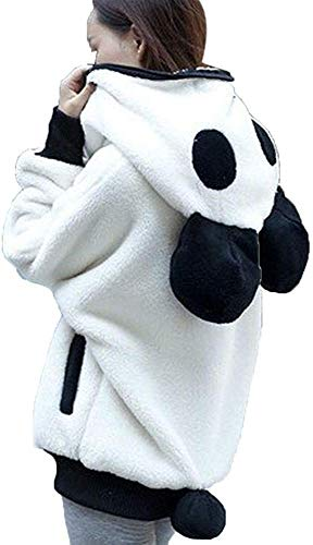 Kneris Jersey con Capucha Mujer Panda Elegante Sudadera Manga Larga Cálido Hoodie