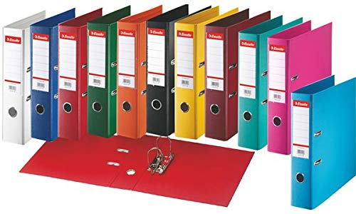 #10xEsselte Plastik-Ordner Standard, DIN A4, 50 mm, sortiert