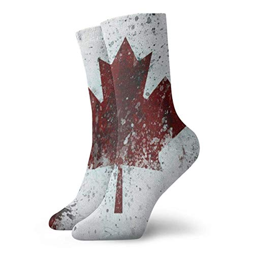 Kanada Flagge Maple Leaves Unisex Fun Cool 3D-Druck Bunte Athletic Sport Neuheit Crew Tube Socken 30cm