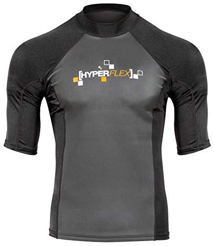Hyperflex Wetsuits - Camiseta para Hombre, poliolefina, 1,5 mm, 50/50 S/S, Color Negro, Talla Mediana, para Surf, Windsurf y Wakeboard