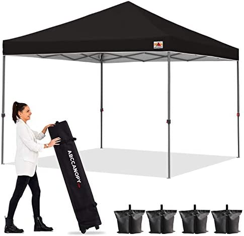 ABCCANOPY Outdoor Easy Pop up Canopy Tent 6x6 Central Lock Series Black product image