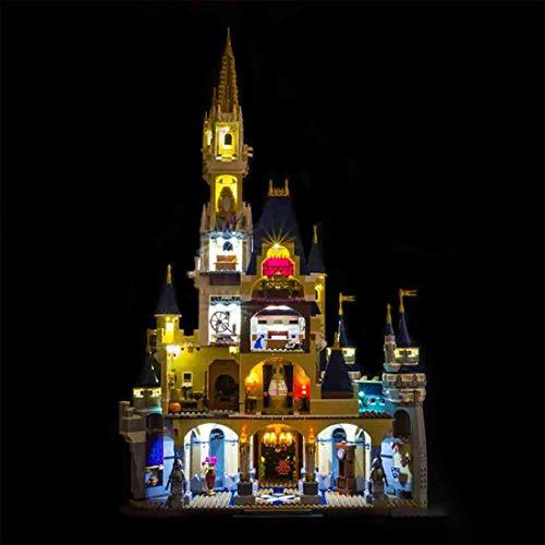 FADF Juego de luces LED para Lego Disney Castle, kit de luces compatible con Lego 71040 (modelo Lego no incluido)