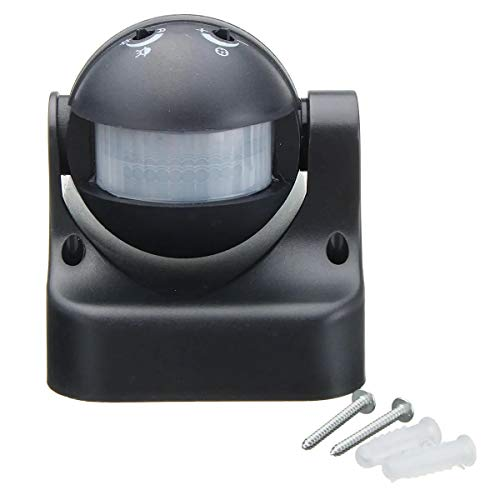 Switched Electrical Home Garden Outdoor Light Lamp Switch Black Auto PIR Motion Sensor Detector Switch