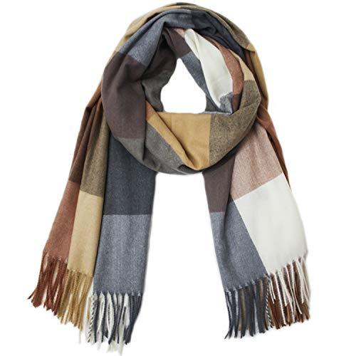 Glamexx24 XXL Schal Kuschelige, warme und wunderschöne Damen Poncho 3 farbig oder Unifarbe Schal Oversized Deckenschal