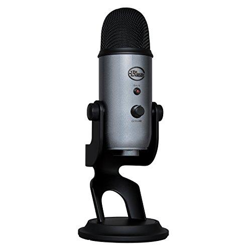 Blue Microphones Yeti - Micrófono USB para grabación y transmisión en PC y Mac, transmisión de juegos, llamadas de Skype, transmisión de Youtube, Plug and Play, color Gris Lunar