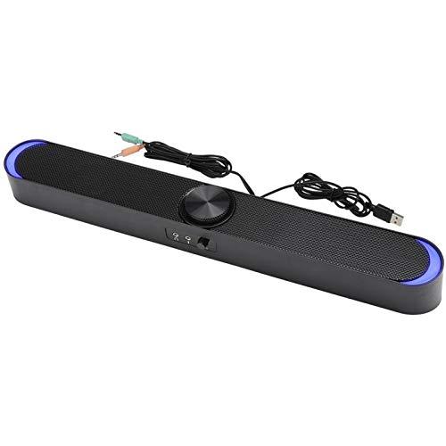 Altoparlante per Computer - Mini Altoparlante Audio da Tavolo per Uso Domestico - Notebook - Jack Audio Universale da 3,5 mm - per Computer Laptop(Nero)