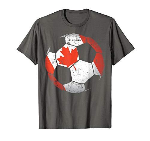 Canada Soccer Ball Flag Jersey Shirt - Canadian Football