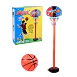 1 Juego de Baloncesto para niños, Soporte de aro de Baloncesto de Altura Ajustable, Mini portería de Baloncesto Interior, Juguete para niños, Juegos de Patio