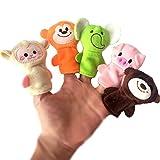 TOYMYTOY 10pcs weiches Plüsch Tier Fingerpuppen Set für Kleinkinder, Baby Story Time -