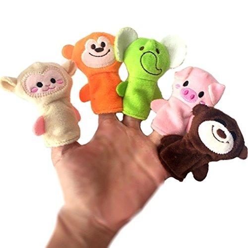 TOYMYTOY 10pcs weiches Plüsch Tier Fingerpuppen Set für Kleinkinder, Baby Story Time