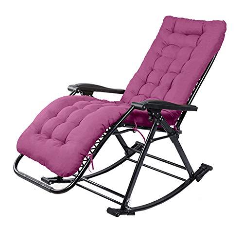 LHNLY-Tumbonas Silla reclinable Mecedora Silla con cojín para Adultos en la Sala de Estar Plegable...