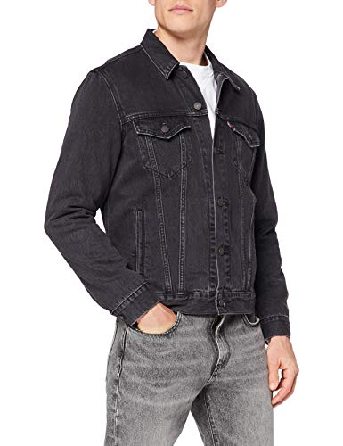 Levi's The Jacket Giacca in Jeans, Liquorice Trucker, L Uomo