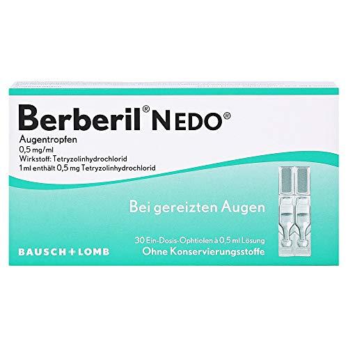 Berberil N EDO Augentropfen Augentropfen 30x0.5 Milliliter
