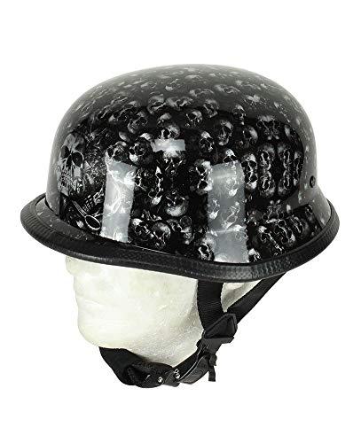 EXCELSIOR INT German Novelty Skull Cap (S, Black Skulls)
