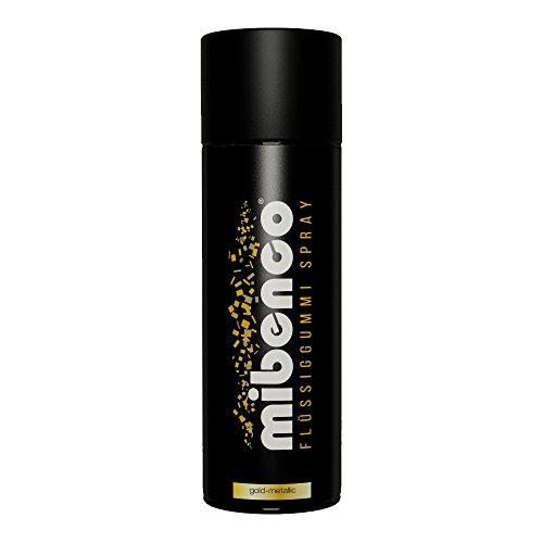 mibenco 71420028 Flüssiggummi Spray / Sprühfolie, Gold-Metallic Matt, 400 ml - Neue Farbe und Schutz für Oberflächen und zum Felgen lackieren