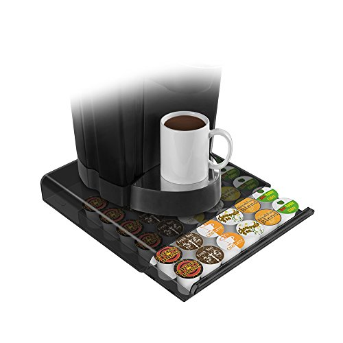 Mind Reader Coffee Pod Storage Drawer for K-Cups, Verismo, Dolce Gusto, Smoke/Clear