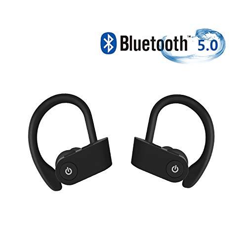 Bluetooth Kopfhörer,Kopfhörer Kabellos Sportkopfhörer Wireless Kopfhörer Bluetooth 5.0 Headset IPX7 Wasserdicht Kopfhörer, Laufen Kopfhörer mit Mikrofon, Für Apple Airpods Android/iPhone