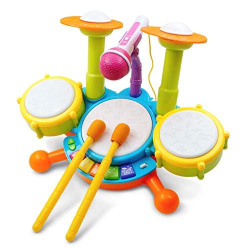 Kinder Schlagzeug Einstellbare Mikrofon Dynamische Flash Light Spielzeug-Entwicklungsspielzeug