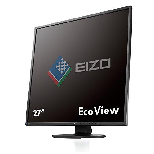 EIZO FlexScan EV2730Q-BK 67,2 cm (26,5 Zoll) quadratischer Monitor (DVI-D, USB 2.0 Hub, DisplayPort, 5 ms Reaktionszeit, Auflösung 1920 x 1920) schwarz