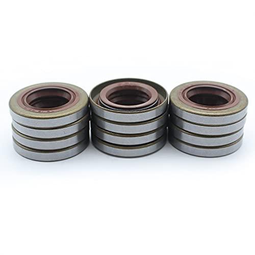 12 unids/lote sellos de aceite de cigüeñal para HUSQVARNA 51 55, 254, 257, 262, 357, 359, 357XP, piezas de sierra de cadena 505275719, 505 27 57 19