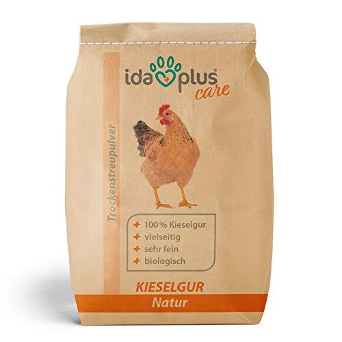Ida Plus – Kieselgur Natur 20 Liter – Biologische Kieselerde als Pulver – das Bio Produkt für ihren Hühnerstall & Garten – gut für Hühner, Wachteln & anderes Geflügel - 2
