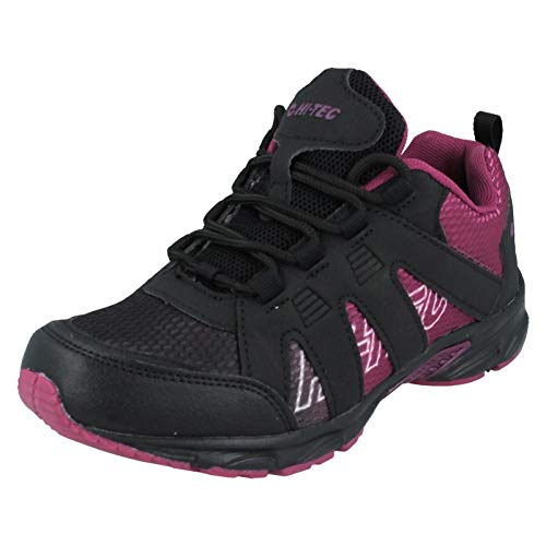 Hi-Tec Jungen Warrior JR Walking-Schuh, schwarz/rot, 39 1/3 EU