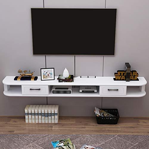 Televisiekast gamingrek huismeubel mediaconsole drijvende TV-staander met 2 laden voor DVD-speler Box Cable Box