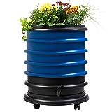 Lombricomposteur WormBox 4 Plateaux Bleu et jardinière - 72 litres - Recyclez Vos déchets organiques en Engrais pour Vos Plantes 🌻