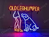 LeeQueen Creative Design Customized32inx24in Old Leghumper Neon Sign (VariousSizes) Beer Bar Pub Man Cave Business Glass Lamp Light DC194