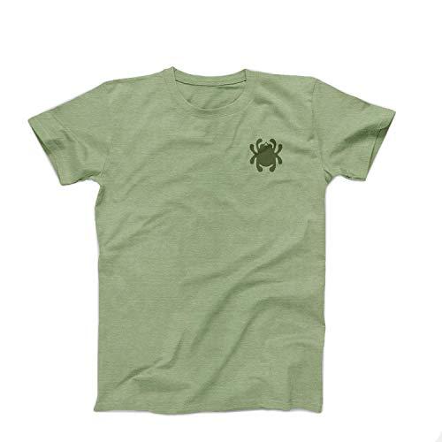 Spyderco Large Unisex Knife Anatomy T-Shirt - High Performance Green Polyester Cotton Shirt - TSKAL