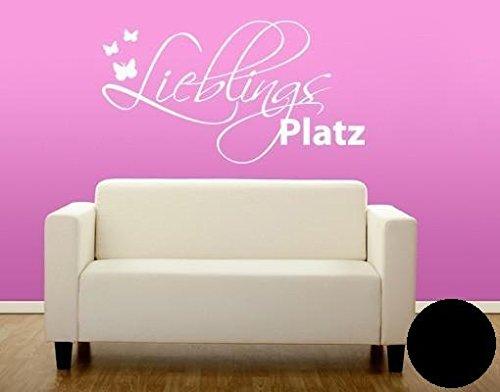 Klebefieber Wandtattoo Lieblingsplatz B x H: 80cm x 45cm Farbe: Schwarz