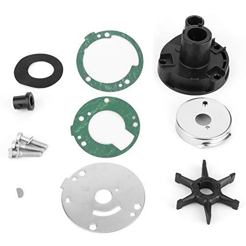 Qiilu Kit de reparación de bomba de agua Juego de reparación de motor fueraborda de acero inoxidable 689-W0078-A4 apto para Yamaha 25/30 HP