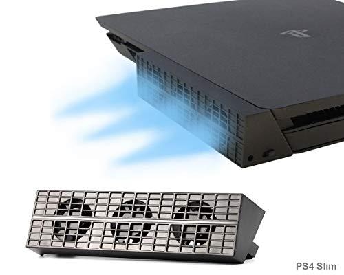 PeakLead [Nuova Edizione] PS4 Slim Ventola di Raffreddamento Automatico Temperatura USB External 3 Turbo Cooling Fan Cooler per Console di Gioco Playstation 4 Slim