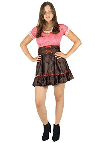 Foxxeo Cowboy Kostüm für Damen - Größe XS - XXL -sexy Cowgirl Western Kleid zu Karneval und Fasching Größe XL